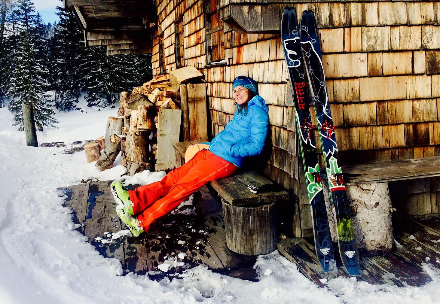 munichmountaingirls nina koch huette skitour taubenstein