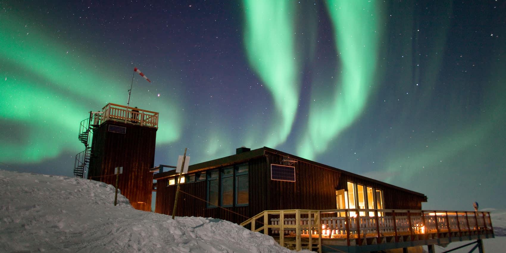 Polarlichter in Schwedisch Lappland