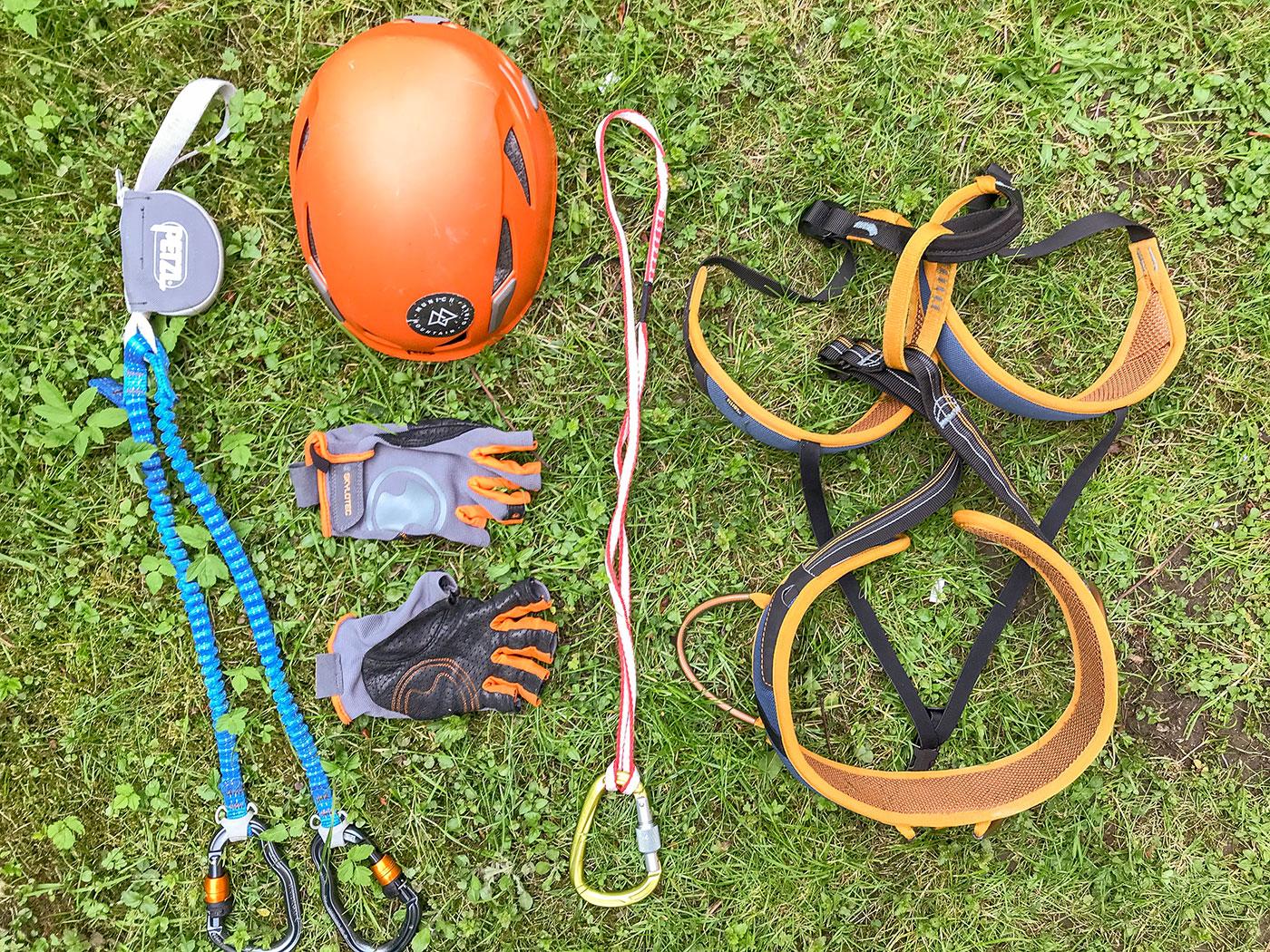 Klettersteig-Ausrüstung / Munich Mountain Girls