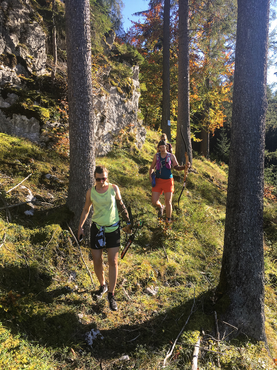 Trailrunning Tiroler Zugspitz Arena Munich Mountain Girls Bogenschiessen