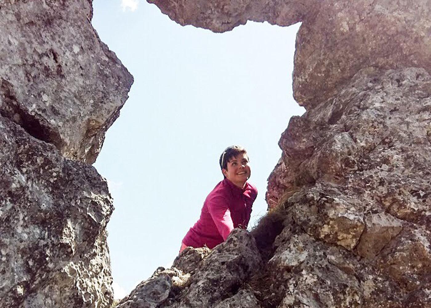 Munich Mountain Girl Philine Lietzmann beim Bergsteigen