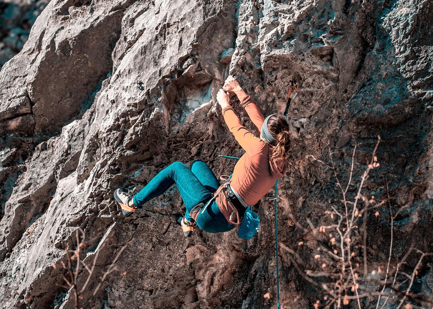Munich Mountain Girl Hanna Hörmann beim alpinen Klettern