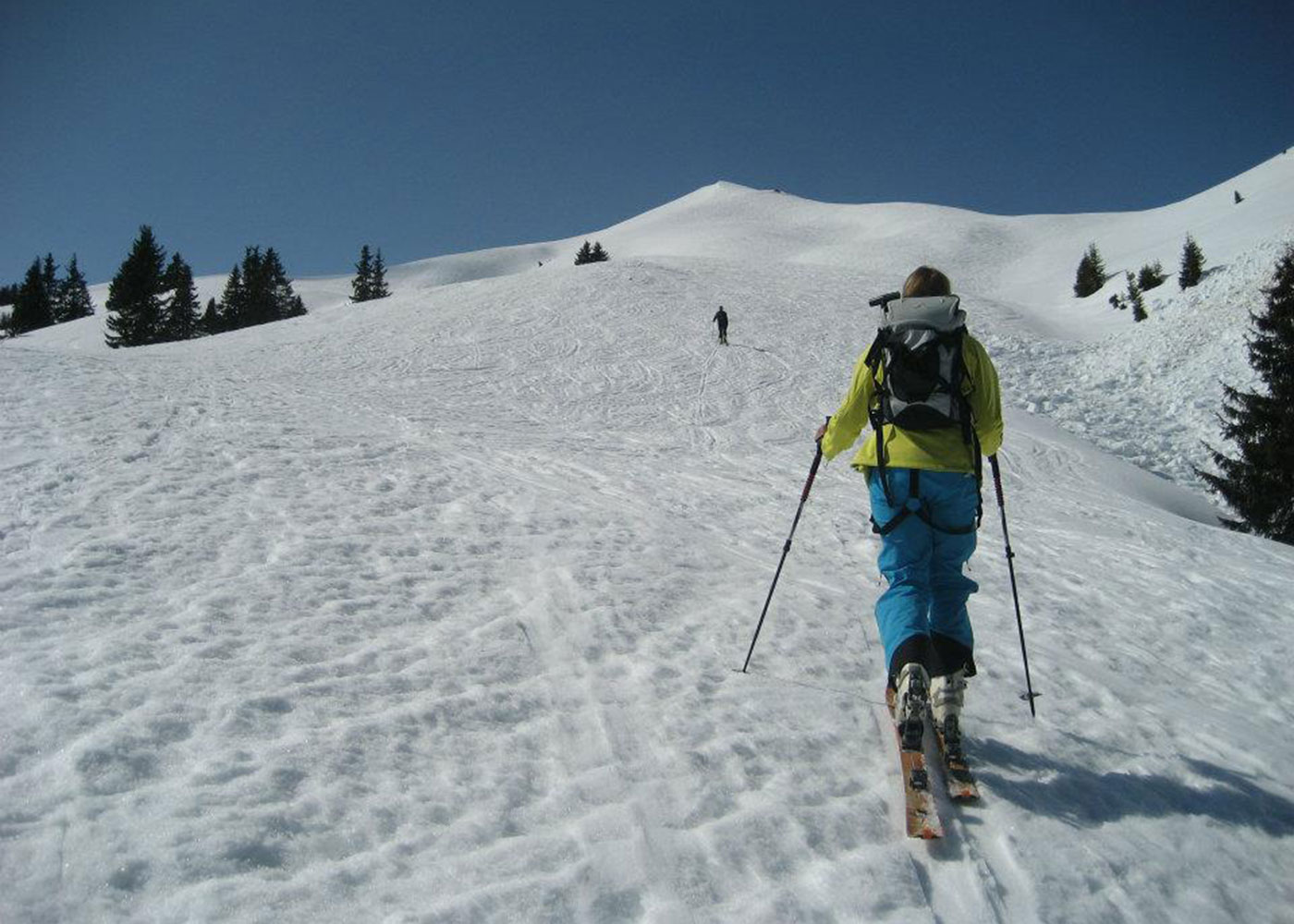 Munich Mountain Girl Irmi Baumann auf Skitour aufs Galtjoch