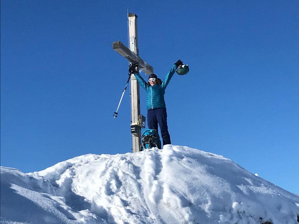 Munich Mountain Girl Anja Skitour Zillertal Hochfügen