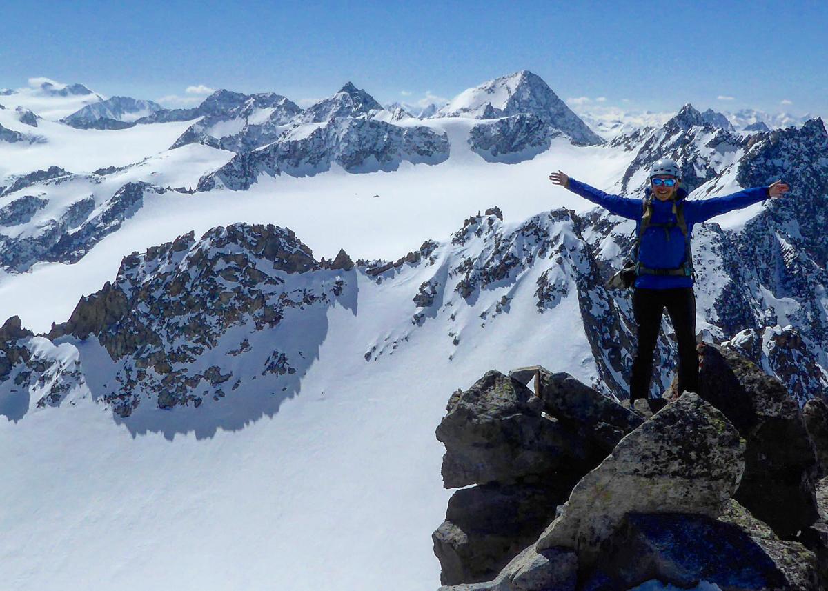 Munich Mountain Girl Melanie Brem Skitour Lüsener Spitze & LüsenerFernerkogel