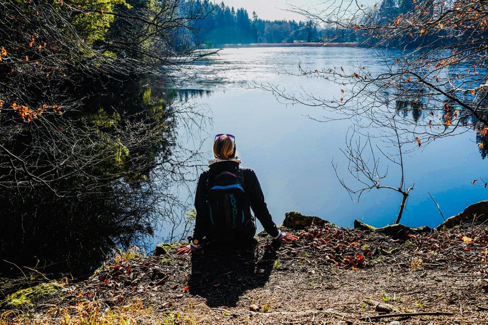 Munich Mountain Girl Irmi Baumann am See