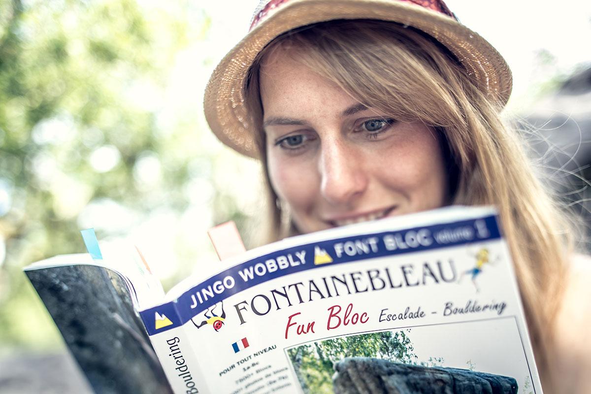 Bouldern Fontainebleau - Sabrina Stadler