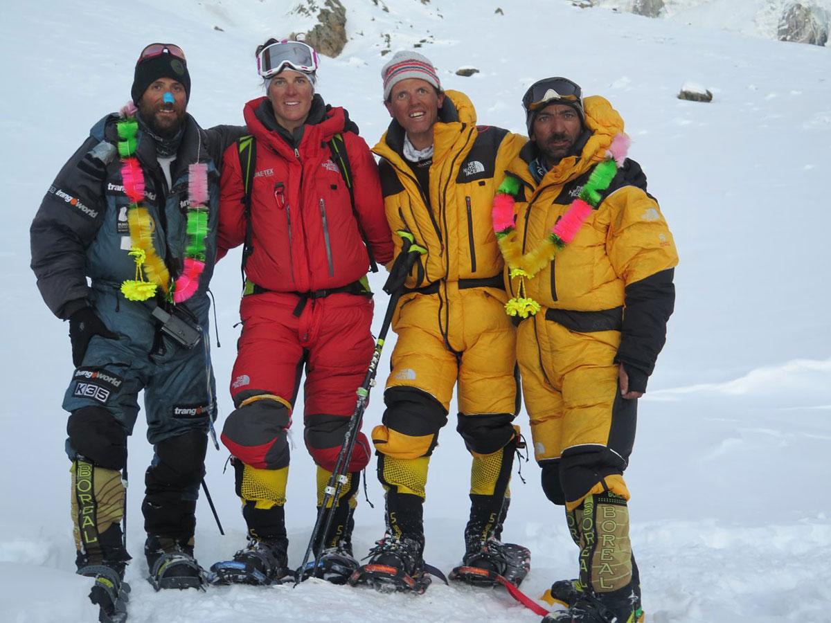 Bergsteigerin Tamara Lunger unter Männern auf Expedition