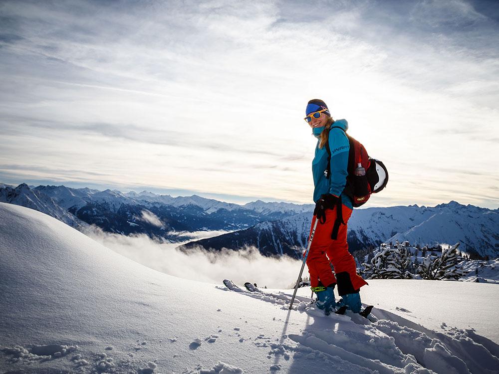 Christina Rottmair auf Skitour