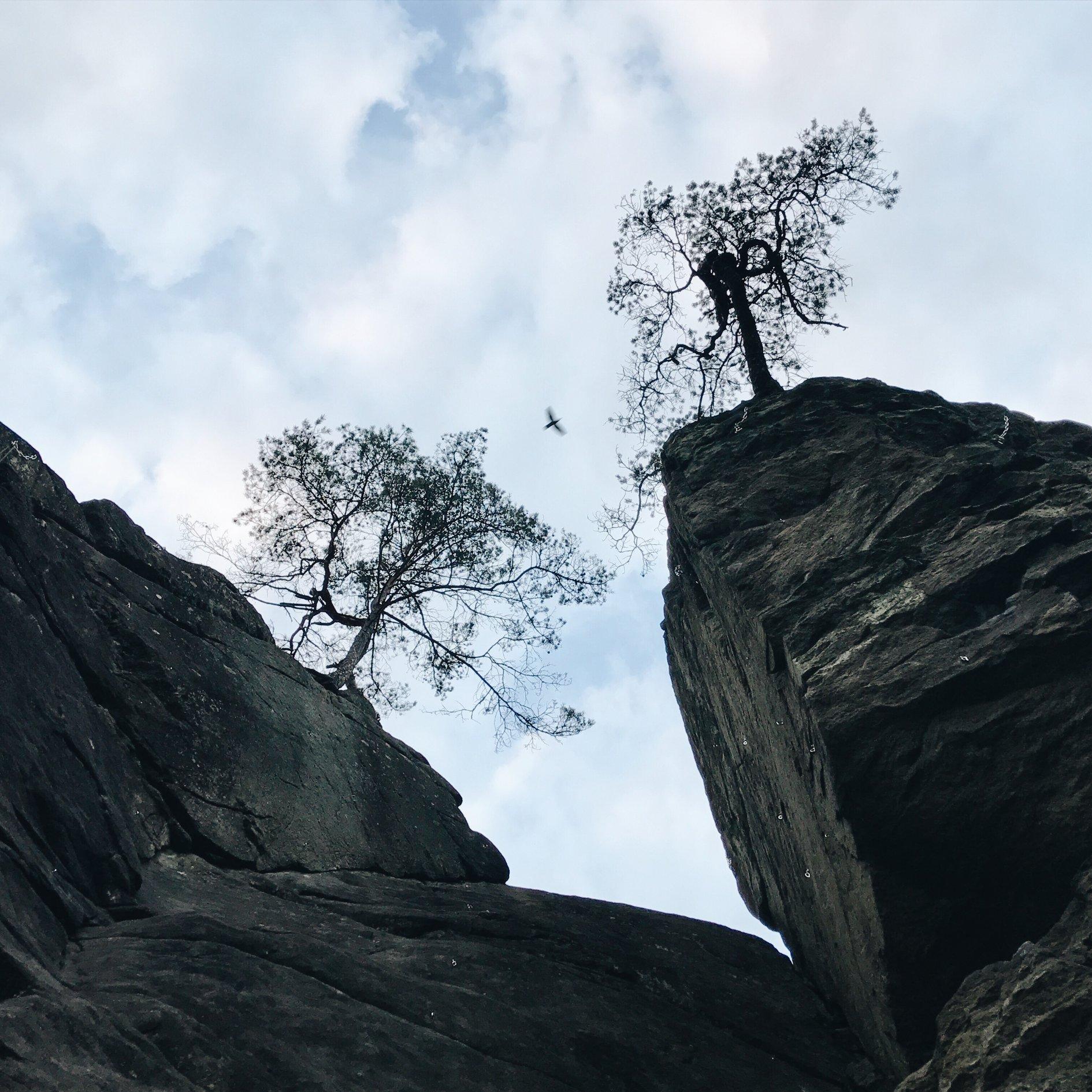anna-weiss-Klettern mit dem besten Lehrer im eigenwilligen Bayerwald-Granit